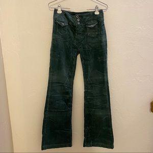 Green Anthropologie Corduroy Pants